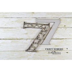 Papericious Layered Chipboard Numbers - 7