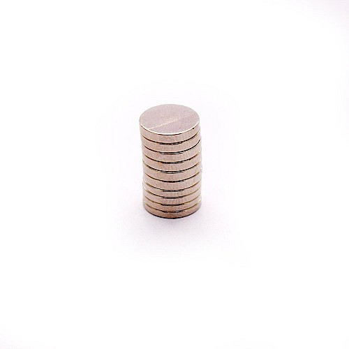 Circle Magnets (10 mm by 1.5 mm) - 10 pcs