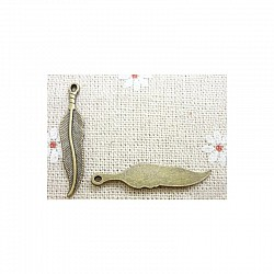 Vintage Feather Charms (Pack of 5 pcs)
