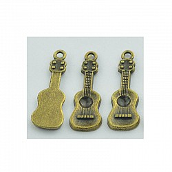 Small Guitar Metal Charms (Set of 5 pcs)