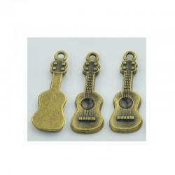 Small Guitar Metal Charms (Set of 5 pcs)