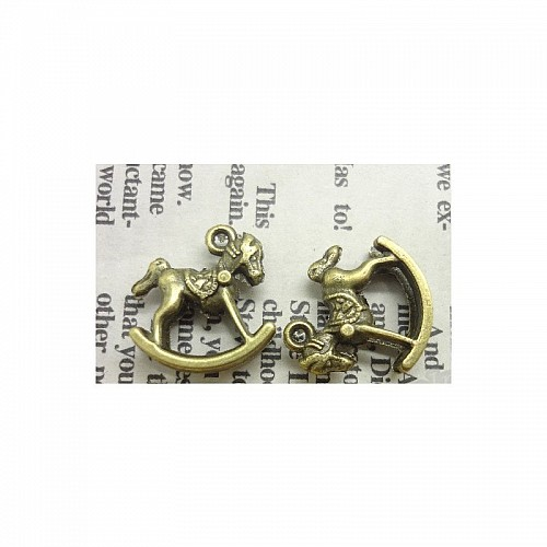 Baby Horse Carriage Metal Charms (Set of 10 pcs)