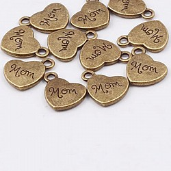Love You Mom Metal Charms or Pendant (5 pcs)