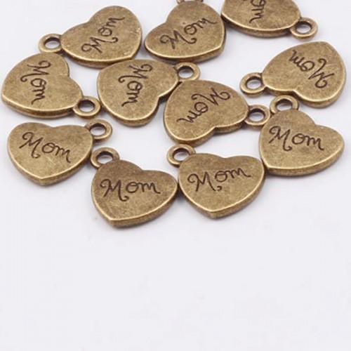 Love You Mom Metal Charms or Pendant (5 pcs)