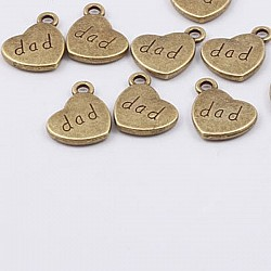 Love You Dad Metal Charms or Pendant (5 pcs)