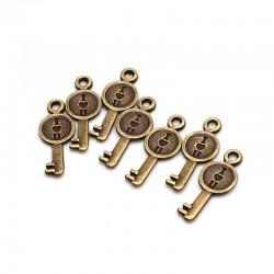 I love you Keys Metal Charms or Pendant (10 pcs)