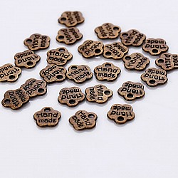 Small handmade Tag metal charms - pack of 10