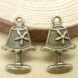 Antique Lamp metal Charms - pack of 10