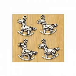 Baby Carriage metal charms - pack of 10