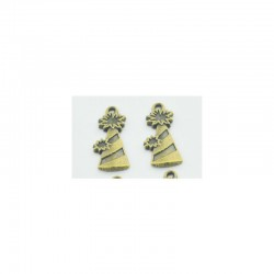 Party hats metal charms - pack of 10