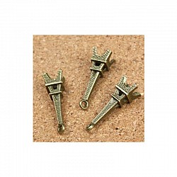 Large Eiffel tower Metal Charms (Set of 10 pcs)