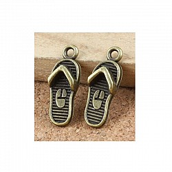 Beach slippers Metal Charms (Set of 10 pcs)