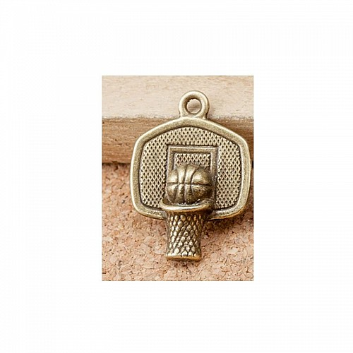 Basketball Metal Charms (Set of 5 pcs)