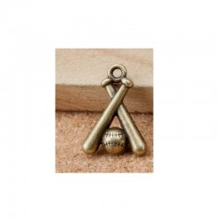 Baseball Metal Charms (Set of 5 pcs)