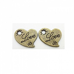 Love Is Metal Charms (Set of 10 pcs)