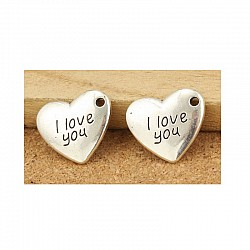 I Love You Metal Charms (Set of 10 pcs)
