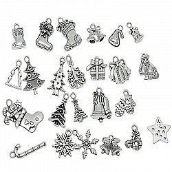 Asssorted Christmas themed Metal Charms (Set of 24 pcs)