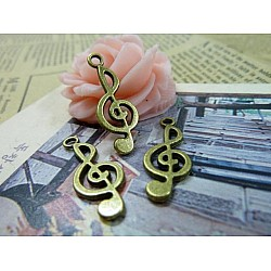 Musical Notes Metal Charms (Set of 10 pcs)