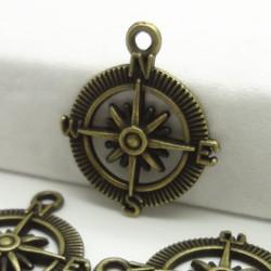 Compass Metal Charms (Set of 5 pcs)