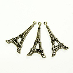 Large Eiffel tower Metal Charms (Set of 5 pcs)