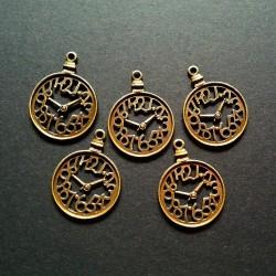 Large antique Clock Metal Charms (Set of 5 pcs)