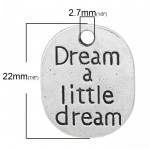 Dream a Little Metal Charms (Set of 2 pcs)