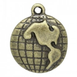 World Map Metal Charms (Set of 5 pcs)