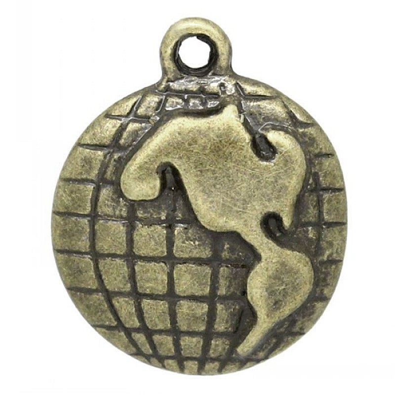 Buy world map metal charms set of 5 pcs online in india at best world map metal charms set of 5 pcs gumiabroncs Choice Image