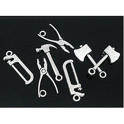 Assorted Hand Tools Metal Charms (Set of 10 pcs)