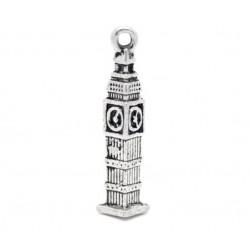 London Big Ben Tower Metal Charms (Set of 5 pcs)