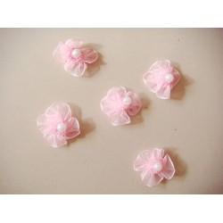 Net Flowers - Baby Pink