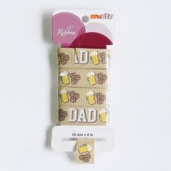 Sewrite Ribbon  - Dad (Brown)