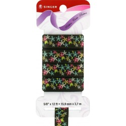 Sewrite Spring Flowers Ribbon  - Black