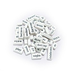 White Word Tiles (Pack of 50 tiles) (CAWT-291)