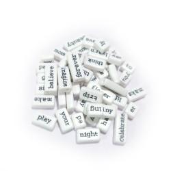 White Word Tiles (Pack of 50 tiles) (CAWT-291)
