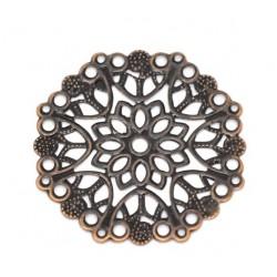 Mandala metal filigree for Mini Album (Set of 10 pcs) - Antique Bronze  finish