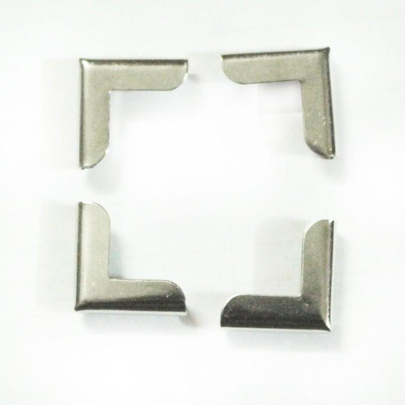 Buy Metal Scrapbook Album Cornersprotectors Plain Silver Set