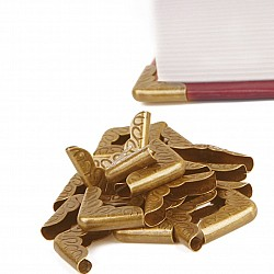 Metal Scrapbook Album Corners/Protectors (Set of 20 pcs) - Golden