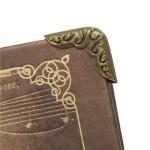 Metal Scrapbook Album Corners/Protectors - Plain - Silver (Set of 4 pcs)