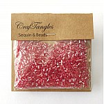 CrafTangles Pipe Beads - Iridescent Coral Red
