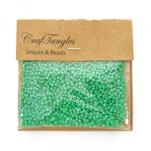 CrafTangles Seed Beads - Fern Green