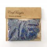 CrafTangles Seed Beads - Iridescent Blue