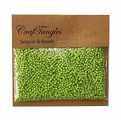 CrafTangles Seed Beads - Lime Green