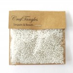 CrafTangles Seed Beads - Translucent White
