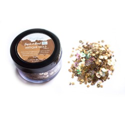Antique Gold - CrafTangles Sequin and Bead Mixes Jar (30 gms)