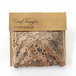 CrafTangles Sequins - Antique Gold RIngs