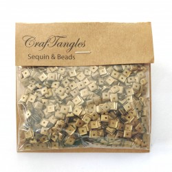 CrafTangles Sequins - Antique Gold Squares