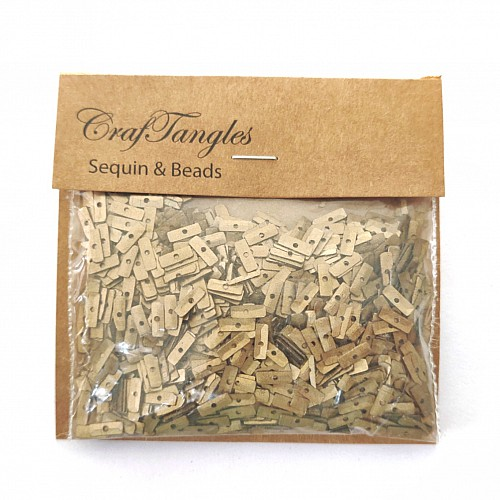 CrafTangles Sequins - Antique Gold Strips