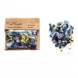 Designer Denim - CrafTangles Sequin and Bead Mixes