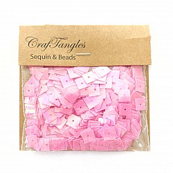 CrafTangles Sequins - Electic Pink Squares